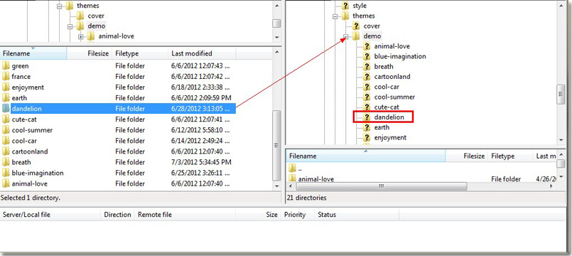 how to use filezilla to download website files