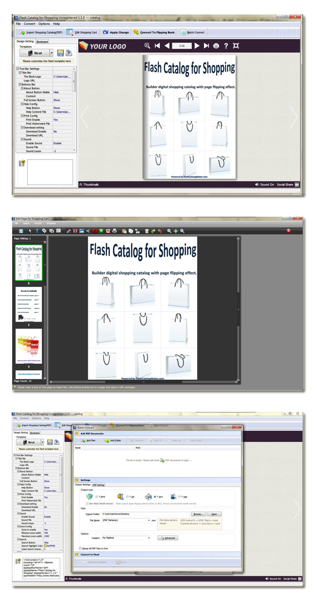 Flash Catalog for Shopping full screenshot