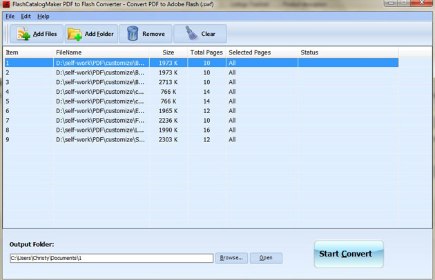 FlashCatalogMaker PDF to Flash Converter