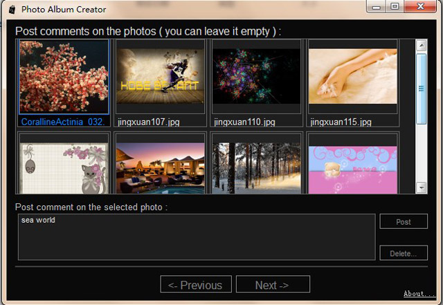 Free Photo Album Creator screenshot