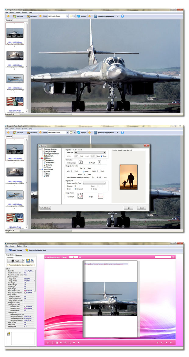 Image to Flash Catalog software screenshot