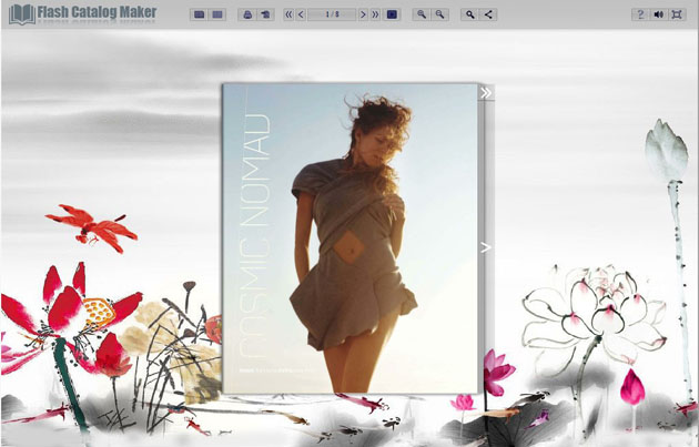Windows 7 Flash Catalog Templates of Lotus Style 1.0 full