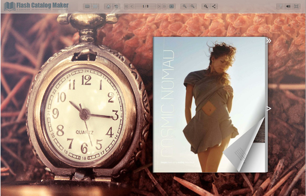 Windows 7 Flash Catalog Templates of Pocket Watch 1.0 full