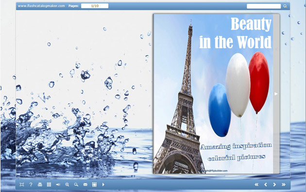 Windows 7 Flash Catalog Templates of Water Drops 1.0 full
